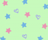 Stars and Hearts background