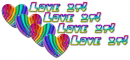 love it rainbow hearts