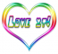 love it rainbow heart mrsclean987