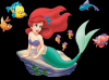 Ariel and fish friends