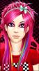 Rainbow Hair Scene Girl
