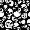 black & white skulls