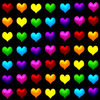 rainbow hearts background
