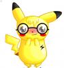 Cute nerd Pikachu