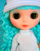 blythe doll blue