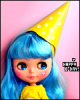 blythe doll birthday hat