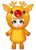 Deer Costume Doll