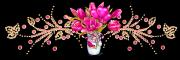 Pink flowers divider