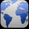 Blue Grey Worldmap