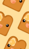 Kawaii Toast Background