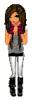 Girl Doll Grey and Black Tank