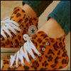 Converse with leopard prints