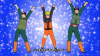 Naruto, Guy, and Rock Lee