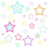 Pastel Rainbow Star Background