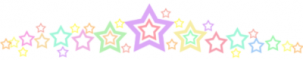 Rainbow Star Divider
