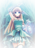 Blue pretty anime girl