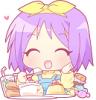 anime girl eating