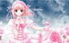 pink princess anime girl