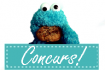 Cookie Monster 'Concurs' buton