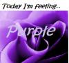 Feeling purple