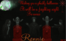 Rennie -Wishing you a ghostly halloween It will be a frighting night Be aware