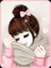 sweet pink kawaii girl