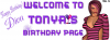 Tonya -Welcome to Tonya's birthday page