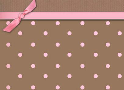 Pink and brown polka dot border