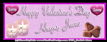 Happy Valentine's Day Banner - Jane