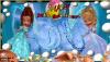 beach setting with girls swirling water, text across beachball