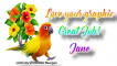 Parrot with flowers - Jane