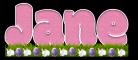 Jane - Pink w/bunnies & eggs