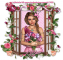 Lady in pink with flowers - Bren