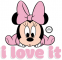 I love it (Baby Minnie Mouse)