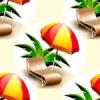 Seamless Beach Chair Background