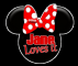 Minnie Mouse head - Jane