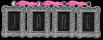 Silver name with pink threads - Jane