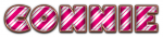 CONNIE CANDY CANE PURPLE TEXT