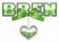 BOW HEART GREEN BREN TEXT