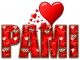 RED LOVE LETTER HEART PAMI TEXT