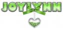 BOW HEART GREEN JOYLYNN TEXT