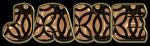 Gold with black swirels - Jane