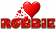 RED LOVE LETTER HEART ROBBIE TEXT