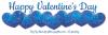 Happy Valentine's Day (blue hearts)