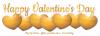 Happy Valentine's Day (gold hearts)