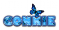 BLUE BUTTERFLY CONNIE TEXT