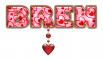 VALENTINE BREN GOLD TEXT