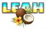 COCONUT LEAH TEXT