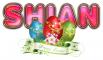 HAPPY EASTER FLOWER SHIAN TEXT