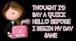 Quick hello - Jane
